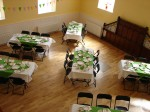 The Main Hall - set for afternoon tea